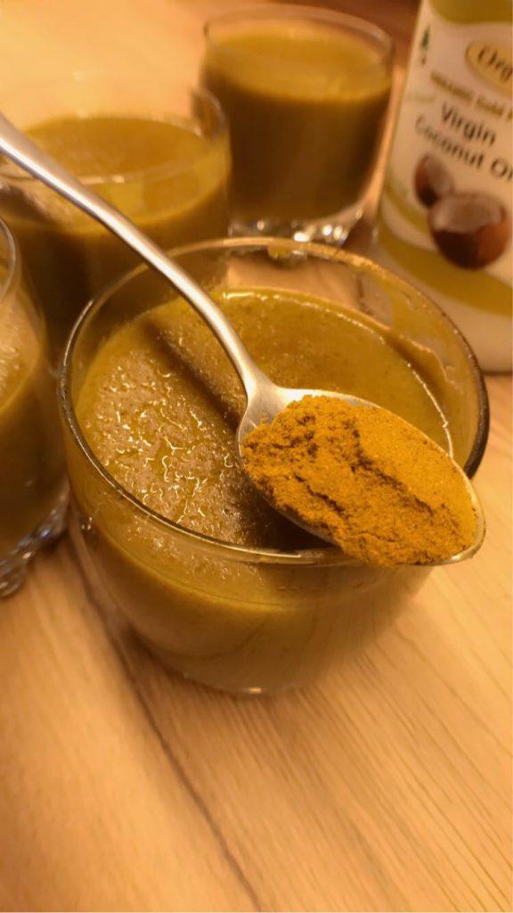 golden milk dessert
